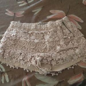 Beautiful bohemian style lace shorts